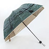 Udvalgte Farver Sammenfoldet paraply Solparaply / Sunny og regnfulde / Regn Metal / tekstil Klapvogn / børn / Rejse / Lady / Herre / Bil