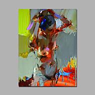Ручная роспись Телесный / Абстрактные портреты Картины маслом,Modern 1 панель Холст Hang-роспись маслом For Украшение дома