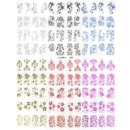 új 3d 108 db csipke virág vízátvezetéshez tervezés köröm matricák matricák UV gél lakk köröm tippeket dekoráció eszköz