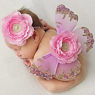 Newborn Princess Vintage Photography Prop Birthday Headband and Skirt Sets(0-5Month)