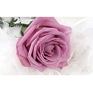3D Effect Non-woven Large Mural Wallpaper Purple Rose and Feather Art Wall Decor Wall Paper