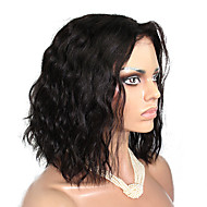 10-18 כיתת 10a אינץ טבעי גל שיער בתולה ברזילאית פאות תחרה מלאות בתספורת קצרה שיער אדם