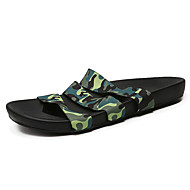 Men's Sandals Summer Fabric Casual Flat Heel Others Black Green Orange Water Shoes
