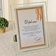 Glass Crystal Frame Swing Sets A4 Documents Certificate Photo Frame