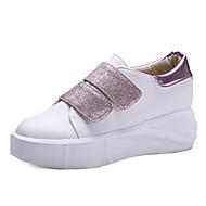 נשים-נעלי ספורט-נצנצים חומרים בהתאמה אישית דמוי עור-פלטפורמה נוחות-שחור ורוד לבן-משרד ועבודה שמלה יומיומי-פלטפורמה מטפסים