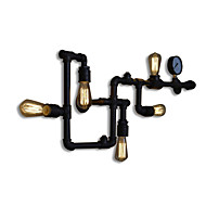 UMEI™ Wall Sconces 5 Light E26 E27 Water Pipe Iron Mini Style Industrial Style Country Metal