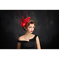 Women's Feather / Flax / Net Headpiece-Special Occasion Fascinators 1 Piece Clear Irregular 15