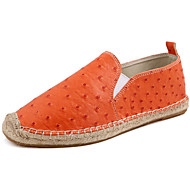 Unisex Loafers & Slip-Ons Spring/Summer / Fall/ Winter Espadrilles Synthetic Casual Flat Heel Black / White / Orange