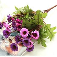 1 Větev Hedvábí Sedmikrásky Květina na stůl Umělé květiny