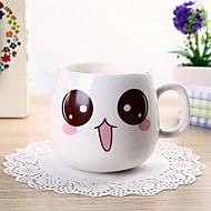 Cute Face Mug Cartoon Ceramic Cup Milk Cup (Random Color)