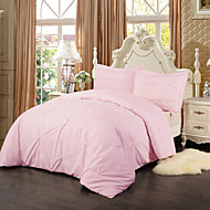 Simple&Opulence 100% Cotton 3 Piece Pink Duvet Cover Set
