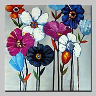 χέρι ζωγραφισμένα λουλούδια λάδι σε καμβά εικόνα σύγχρονης τέχνης τοίχο με τεντωμένο πλαίσιο έτοιμος να κρεμάσει