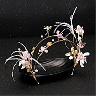 Women's Feather /Crystal / Brass / Imitation Pearl / Fabric Headpiece-Wedding / Special Occasion Headbands 1 Piece