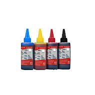 pk compatibele Canon inkt 100ml, een pakje 4boxes, elk vak verschillende kleuren, zwart, rood, geel, blauw