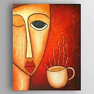 Hand-painted Oil Paintings Modern Abstract Sexy Coffee Wonen Canvas Decor Ready to Hang