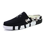 Γυναικεία παπούτσια-Χωρίς Τακούνι-Καθημερινά-Επίπεδο Τακούνι-Χωρίς Τακούνι-Πανί-Μπλε / Πράσινο / Κόκκινο / Άσπρο