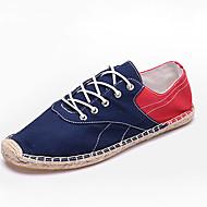 Homme-Décontracté-Noir Bleu Blanc-Talon Plat-Confort-Chaussures d'Athlétisme-Lin