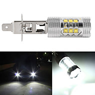 2pcs 80W H1/H3/H4/H7 LED Car Auto Driving Fog Tail Headlight Light Lamp Bulb White 12V