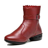 Niet aanpasbaar-Dames-Dance Schoenen(Zwart / Rood) - metPlatte hak- enDanssneakers / Modern