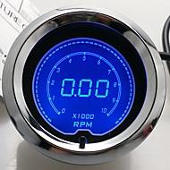 """2 """"(52 χιλιοστά) LCD ψηφιακή 7 χρώματος μετρητή οθόνη του ταχύμετρου rpm / μετρητή auto"""