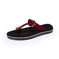 남성 슬리퍼 플립 플롭 캔버스 여름 캐쥬얼 매듭 끈 플랫 블랙 브라운 레드 카키 플랫