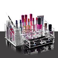 Vysoce kvalitní akrylový kosmetické organizátor zásuvka make-up případ skladování držitel vložka box