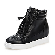 Women's Sneakers Fall Comfort Office & Career / Dress / Casual Flat Heel Sparkling Glitter White Others
