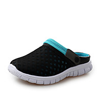 Men's Sandals Summer Hole Shoes Tulle Casual Flat Heel Buckle Blue Green Pink Red Water Shoes