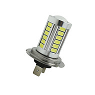 2Pcs Super Bright H7 33 SMD 5630 LED Car Fog Headlight Driving Light Bulb White 12-24V