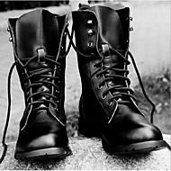 Støvler-LæderHerre-Sort Brun-Fritid-Lav hæl