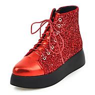 נשים-מגפיים-נצנצים-שפיץ / מגפי אופנה / מגפי צבא-שחור / אדום / כסוף-משרד ועבודה / שמלה / קז'ואל-פלטפורמה
