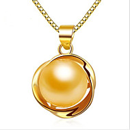 Women's Pendant Necklaces Pendants Pearl Sterling Silver Fashion Adorable Personalized Silver Golden Rose Gold JewelryWedding Party Daily