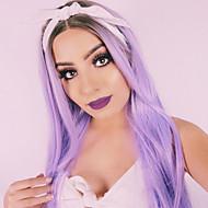 γυναικών συνθετική περούκα μακριά ίσια μαλλιά ombre μοβ περούκα θερμότητα περούκα ανθεκτικά cospaly