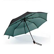 Zöld / Kék / Arany Összecsukható esernyő Sunny és Rainy textil Utazás / Nő / Férfi