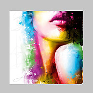 IARTS®Fashion Beauty Halter Top Sexy Lips Oil Painting Colorful Designs Nice Wall Art