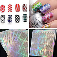 1 Autocollant d'art de clou Manucure Pochoir Maquillage cosmétique Nail Art Design