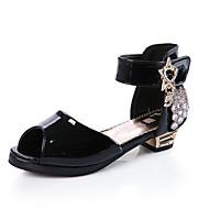 סנדלים-דמוי עור-חדשני להאיר נעליים-שחור אדום לבן-יומיומי-עקב עבה