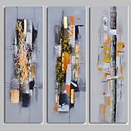 Pintados à mão Abstracto Pinturas a óleo,Modern 3 Painéis Tela Hang-painted pintura a óleo For Decoração para casa