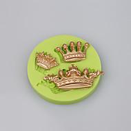 Nova chegada coroa imperial em forma de bolo de silicone 3d bolo fundido ferramentas de decoração do bolo cor aleatória
