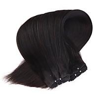neitsi 18 '' παρθένο Μαλαισίας ίσια μαλλιά υφάδια φυσικό μαύρο 1b # φθηνά πακέτα ύφανσης remy ανθρώπινα μαλλιά κουβάρι δωρεάν