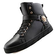 Boty-PU-Kombat boty Pracovní obuv Pohodlné-Pánské-Černá Červená Bílá-Outdoor Běžné Atletika-Nízký podpatek