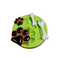 Dog Paws Bones Silicone Molds Fondant Cake Decoration Sugarcraft Tools Polymer Clay Fimo Chocolate Candy Soap Making