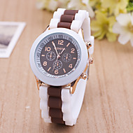 reloj mujer Fashion Leisure Women's Wrist Watches Br  New Ladies watch Double Color Silicone B  Of Quartz Geneve Clock