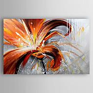 Håndmalte Blomstret/Botanisk olje malerier,Moderne Et Panel Lerret Hang malte oljemaleri For Hjem Dekor