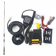 Mini Car Radio Intercom UV Dual Band Dual Display 25W High Power DC Supply Team Self Driving Tour 1 Sets