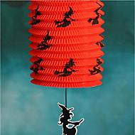 halloween Artikel Jack Skelett der beweglichen bunten Serie Farbe Kürbis Falten Papierlaterne Lampe zufällig 5 * 15