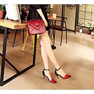 Casual Stiletto Heel Buckle Blue / Red Walking