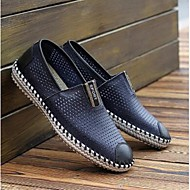 Men's Loafers & Slip-Ons Summer Closed Toe Leather Casual Flat Heel Others Blue / Brown / Yellow / White /