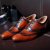 גברים-שטוחות-עור-נעלי בובה (מרי ג'יין)-צהוב-קז'ואל-עקב שטוח