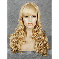 IMSTYLE 24Long Wave Mix Blonde With Bang Synthetic Lace Front Wig